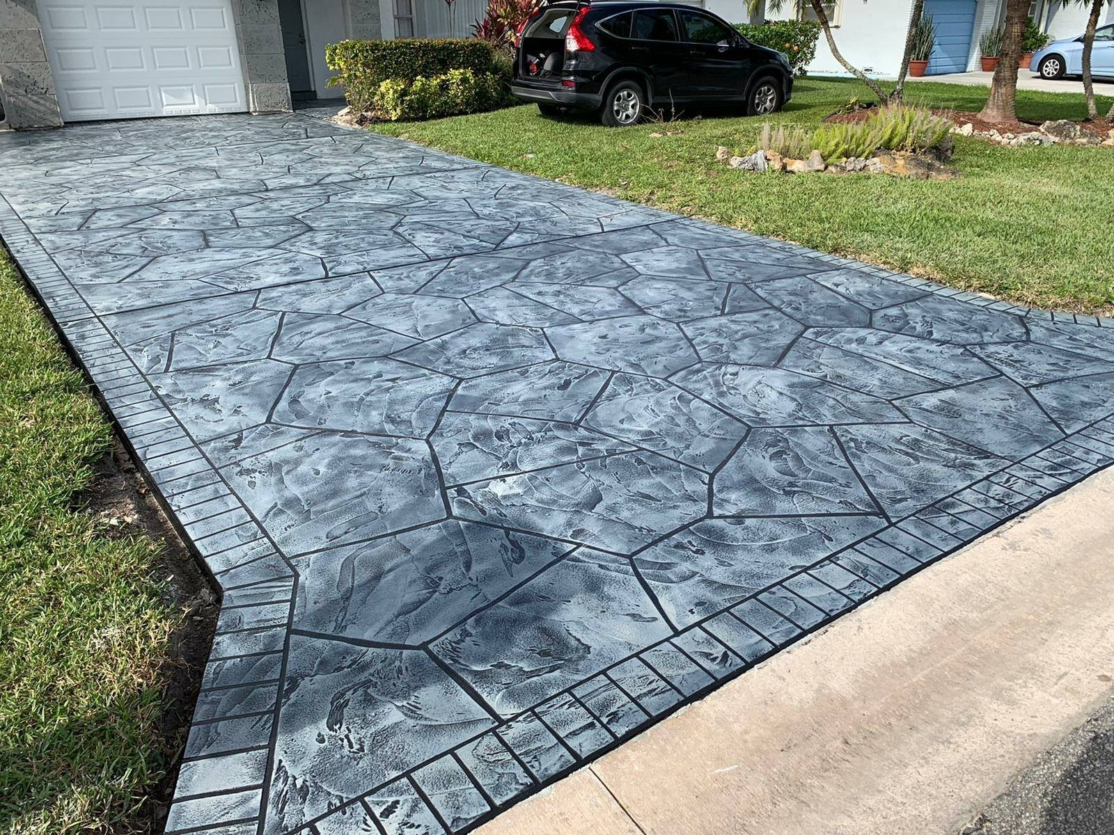 concrete driveway resurfacing completed